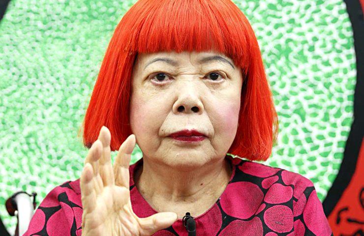 Yayoi Kusama (foto diperoleh melalui: blog.qagoma.qld.gov.au)