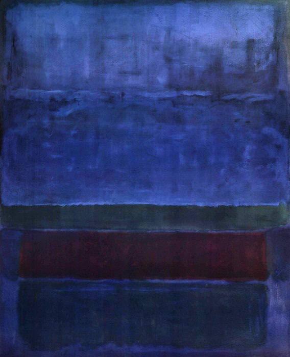 Contoh aliran abstrak ekspresionis: Blue Green and Brown oleh Mark Rothko, Gambar diperoleh melalui: mark-rothko.org