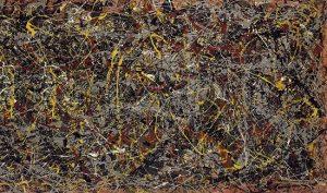 Contoh aliran abstrak ekspresionisme: Number 5 oleh Jackson Pollock, gambar asli diperoleh melalui: jackson-pollock.org