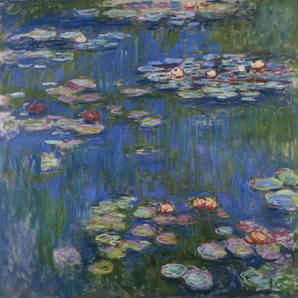 Contoh karya aliran impresionisme: Water Lilies oleh Claude Monet, gambar asli diperoleh melalui wikipedia.com