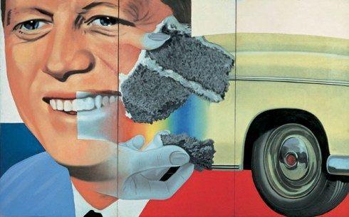 Contoh aliran pop art: President Elect oleh James Rosenquist, Gambar diperoleh melalui: guggenheim.org
