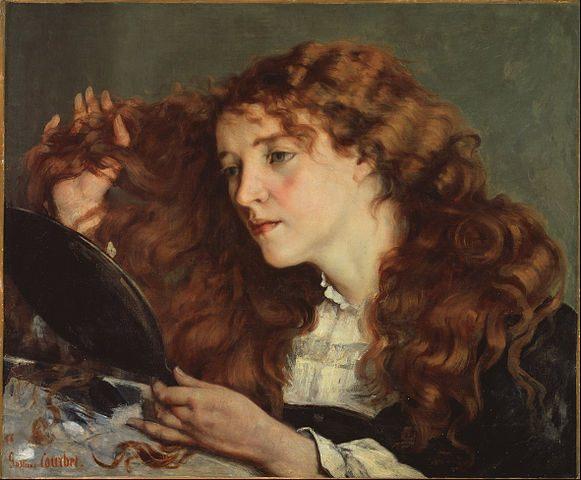Contoh karya aliran seni rupa realisme: Jo, a Beautiful Irish Girl oleh Gustave Courbet, gambar asli diperoleh melalui: wikipedia.com