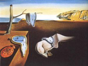 Contoh Karya Aliran Surealisme: The Persistence of Time oleh Salvador Dali, gambar asli diperoleh melalui: wikiart.org