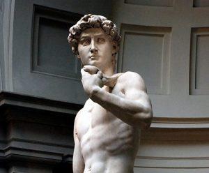 Contoh karya aliran renaisans: David oleh Michelangelo, gambar asli diperoleh melalui wikipedia.com