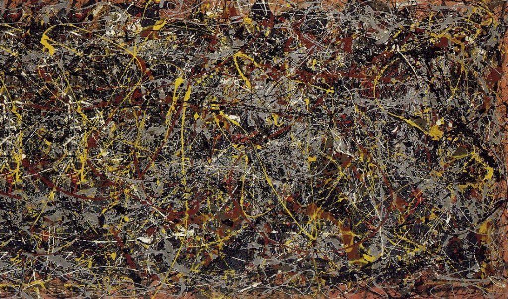 Contoh Lukisan Abstrak: No.5 oleh Pollock.