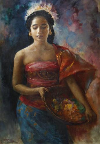 Javanese Girl oleh Basuki Abdullah