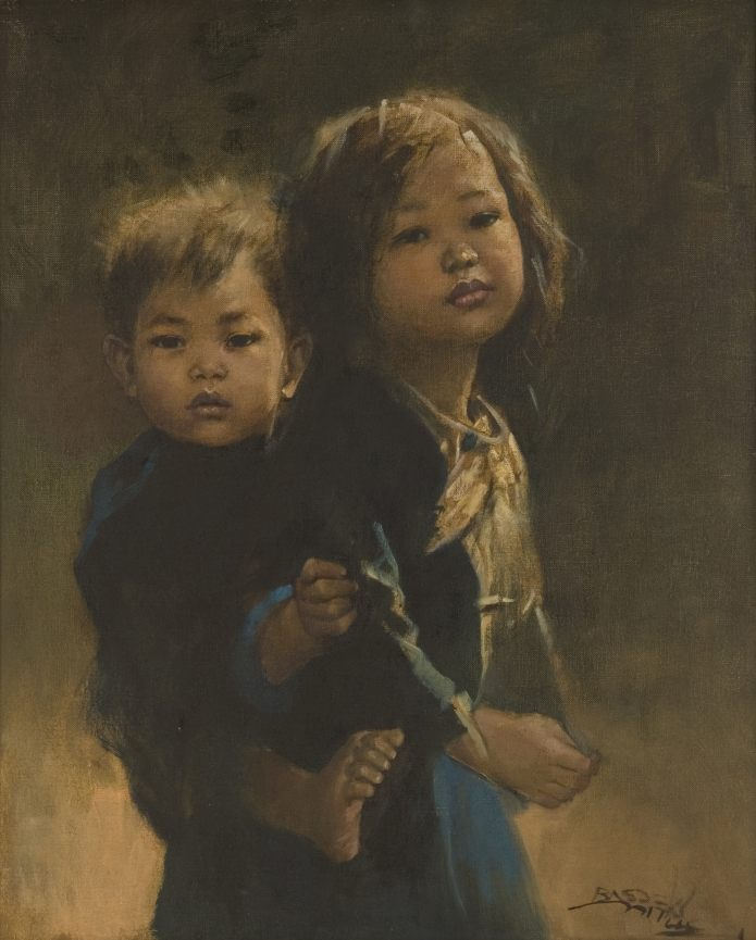 Kakak dan Adik oleh Basuki Abdullah