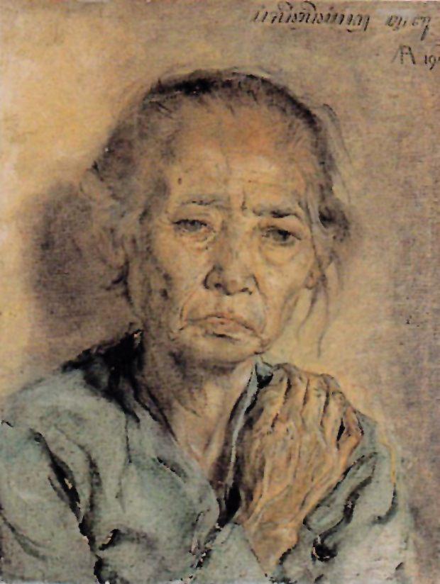Ibuku, oleh: Affandi. galeri-nasional.or.id