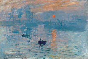 Contoh karya seni rupa modern. Impression, Sunrise oleh Claude Monet