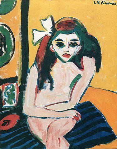 Contoh aliran Ekspresionisme: Marzella oleh Kirchner (1909)