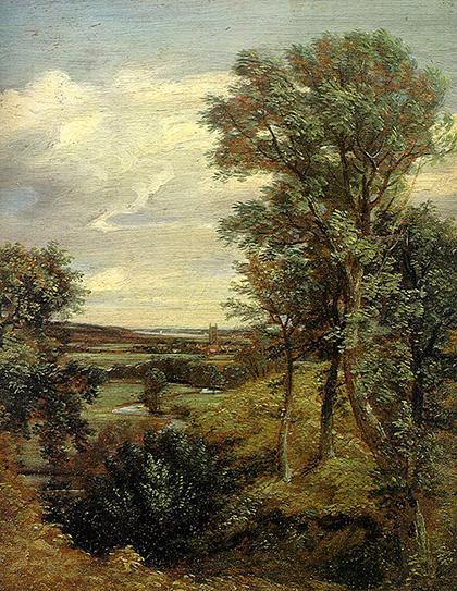 Contoh lukisan naturalisme: Deadham vale oleh: John Constable