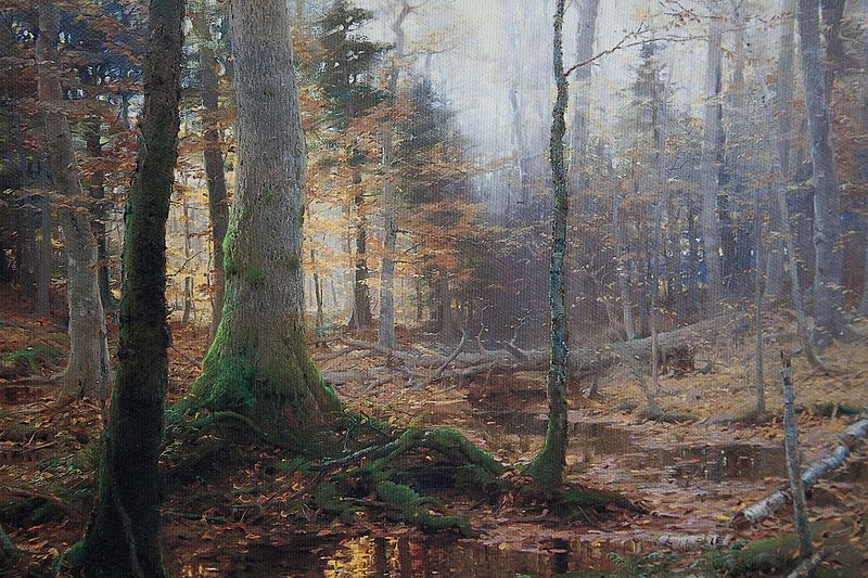 Contoh lukisan naturalisme: fallen monarchs (1886) oleh: william bliss baker