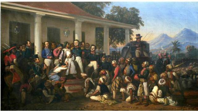 Penangkapan Pangeran Diponegoro. Oleh Raden Saleh