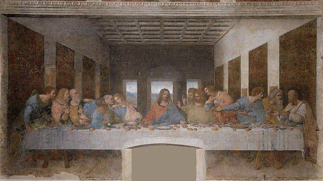 Lukisan Penjamuan Terakhir (The Last Supper), oleh: Leonardo da Vinci (1598)