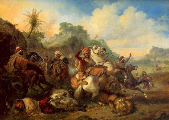Perburuan Singa. oleh Raden Saleh