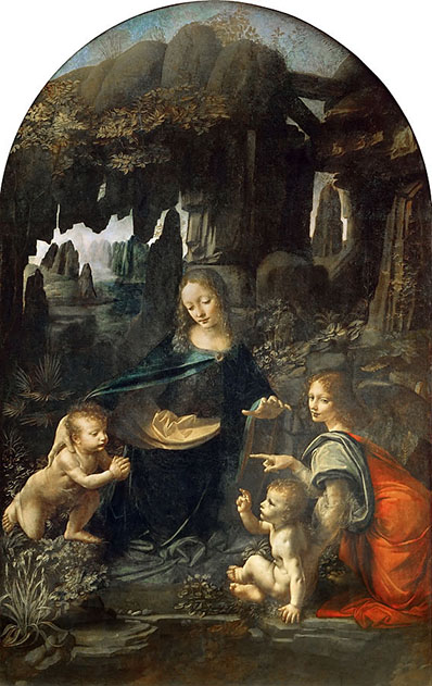 Virgin of the Rocks (1498) oleh Leonardo da Vinci
