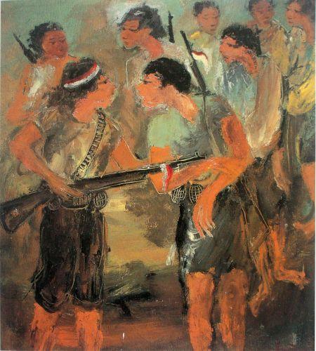 Laskar (pasukan-gerilya), 1947, oleh: Hendra Gunawan