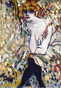 """Contoh lukisan fauvisme """"The dancer at Rat Mort"""" oleh Maurice de Vlaminck"""