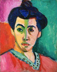 "Contoh lukisan fauvisme ""The green Line"" oleh Henri Matisse"
