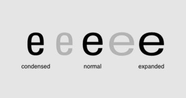 condensed font