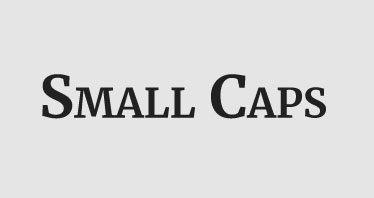 contoh small caps