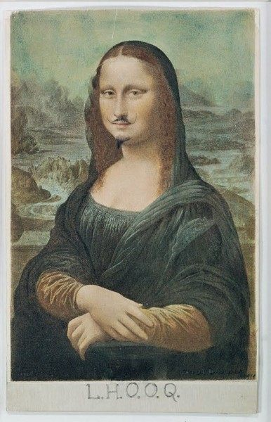 Contoh karya dadaisme: LHOOQ oleh Marcel Duchamp