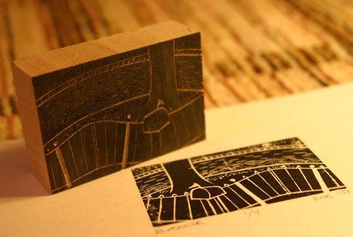 contoh cetakan seni grafis (teknik cetak tinggi) dan hasil karyanya