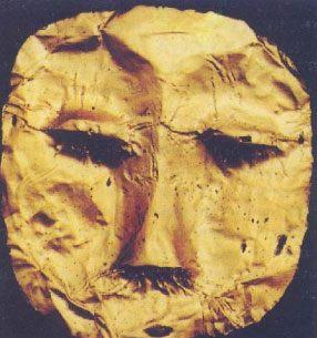 Topeng emas peninggalan Kerajaan Tarumanegara