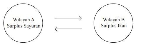 Interaksi kondisi saling bergantung Saling Melengkapi (complementarity atau Regional Complementary)