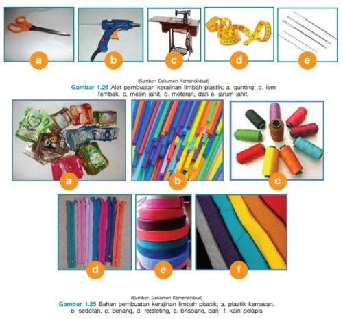 Alat dan Bahan Kerajinan Limbah Plastik