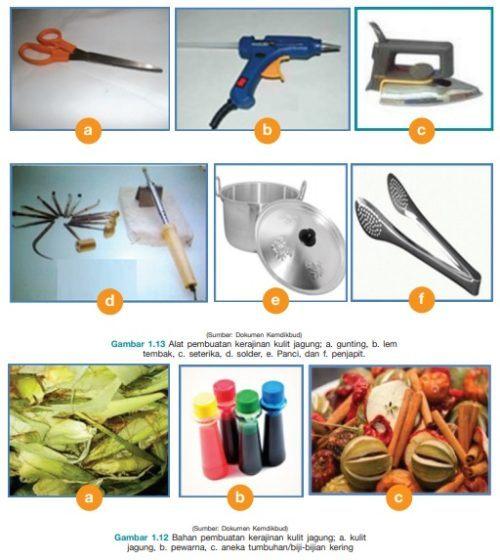 Alat dan Bahan Pembuatan Kerajinan Limbah Kulit Jagung
