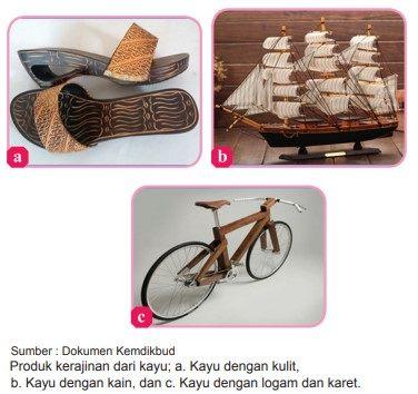 Contoh produk kerajinan berbasis campuran dari kayu