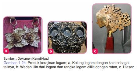 Contoh produk kerajinan berbasis campuran dari logam