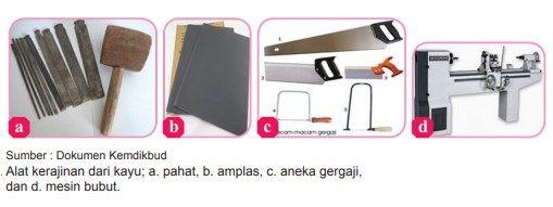 alat-alat yang digunakan kerajinan dari kayu