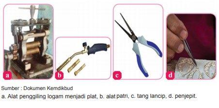 alat-alat yang digunakan kerajinan dari logam