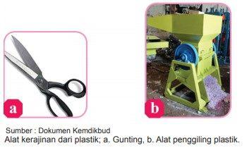 alat-alat yang digunakan kerajinan dari plastik