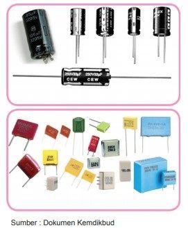 macam macam kapasitor atau kondensator