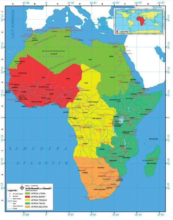 pembagian wilayah benua afrika