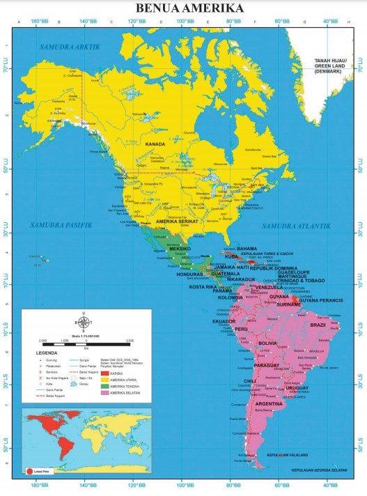 pembagian wilayah benua amerika
