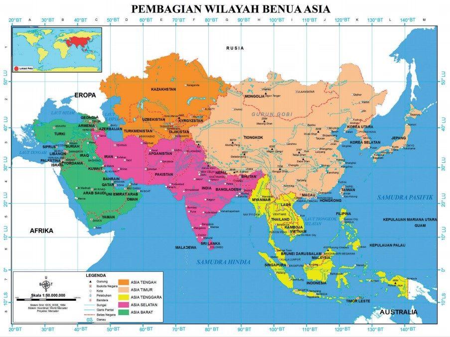 pembagian wilayah benua asia