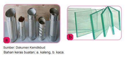 bahan kerajinan keras buatan logam dan kaca