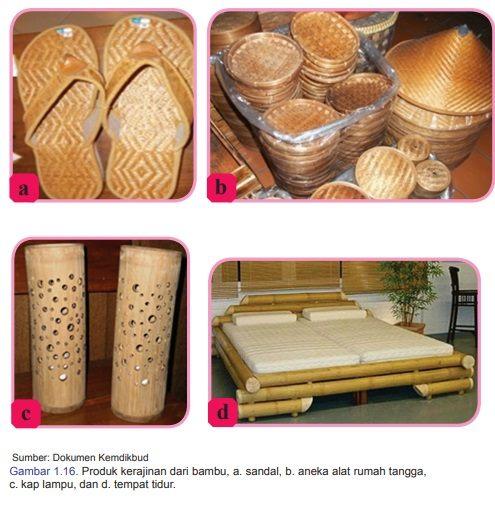 contoh produk kerajinan bambu