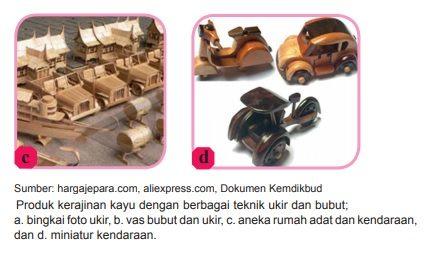 contoh produk kerajinan keras bahan kayu