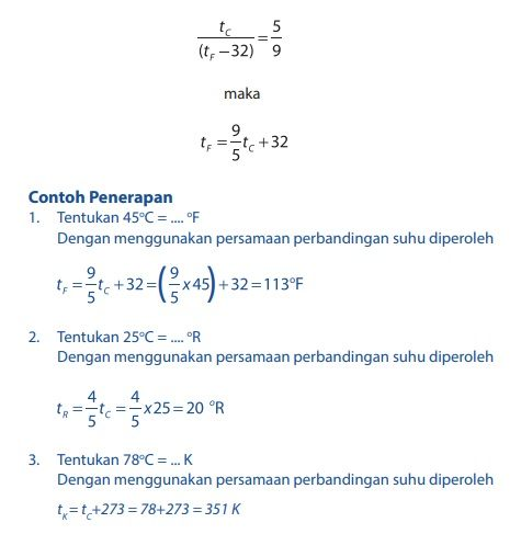 persamaan rumus konversi skala suhu dan contoh