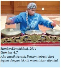 alat musik tradisi bentuk pencon