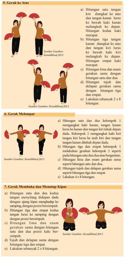 berlatih tari tradisi dengan iringan 4