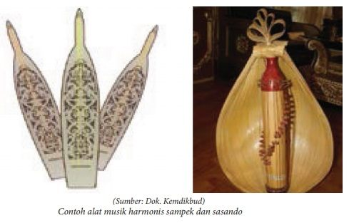 contoh alat musik harmonis - sampek dan sasando